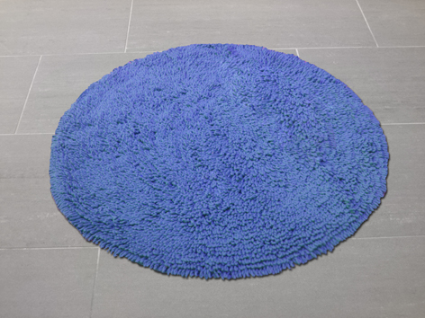 badvorleger rund 60x60 cm blau. Black Bedroom Furniture Sets. Home Design Ideas